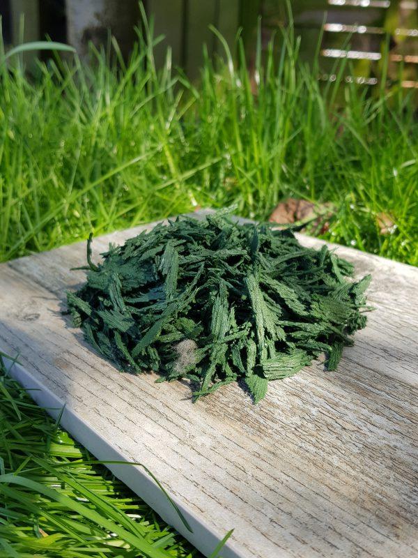green rubber mulch