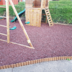 rubber chippings colourful garden